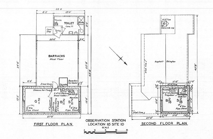 Strawberry point fire control cottages for Fire tower plans
